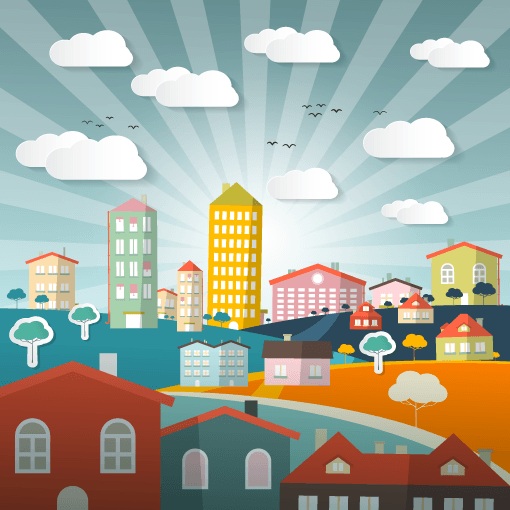 Vector-Landscape-Town-or-City